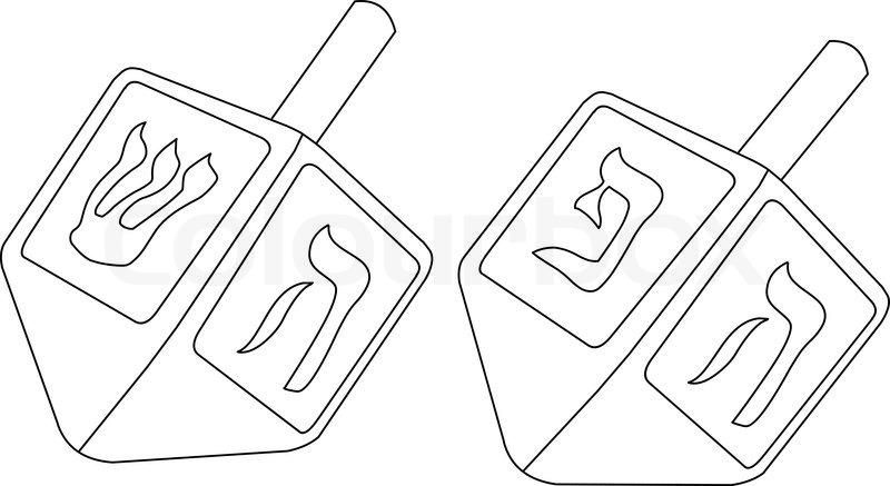 Chanukka Dreidel Malseite | Stock-Vektor | Colourbox