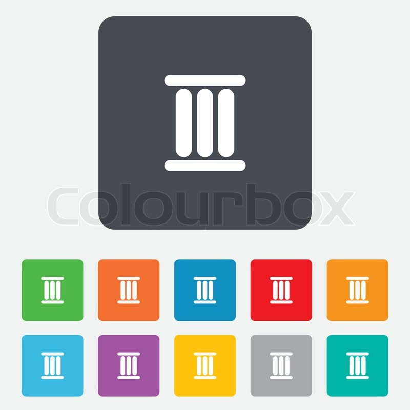 Roman Numeral Three Sign Icon Roman Number Three Symbol Rounded