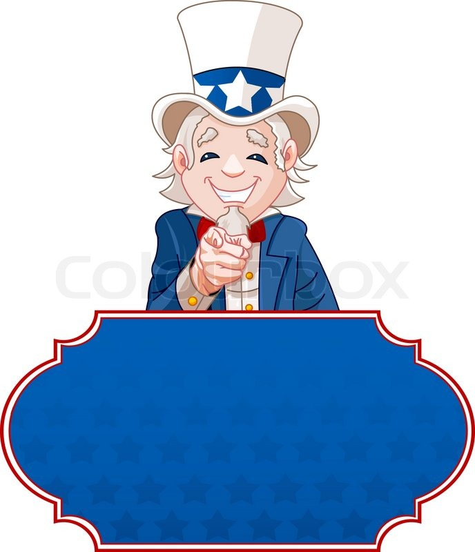 Uncle Sam Wants You Clip Art Sign with Uncle Sam po...