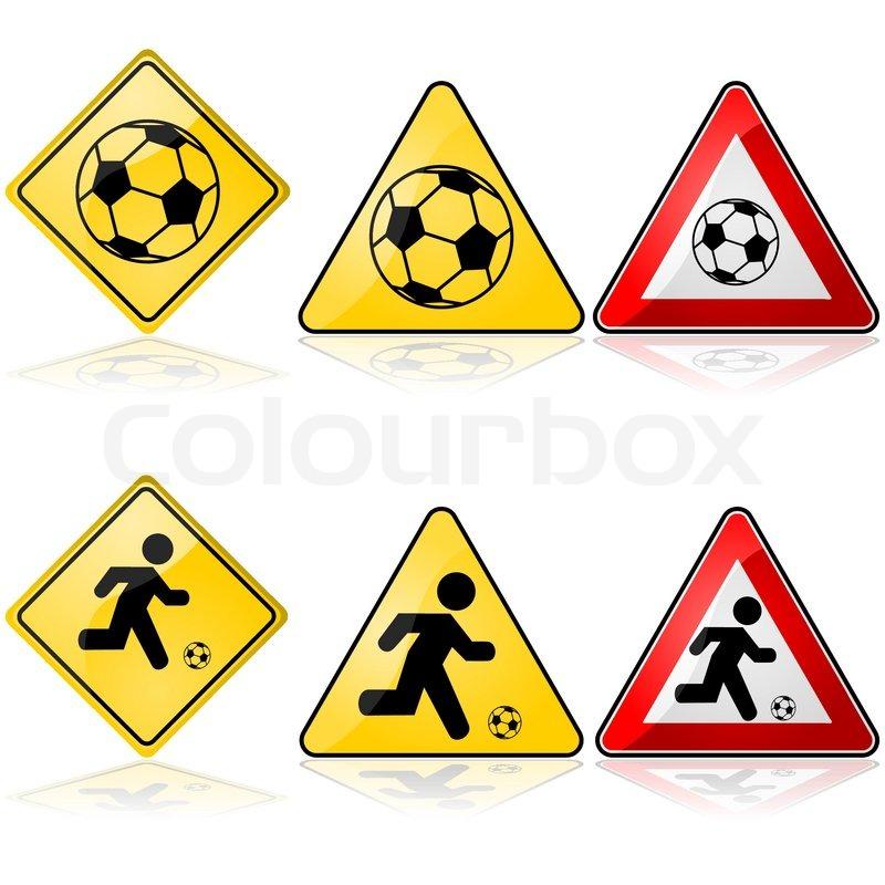 Fussball Zeichen Stock Vektor Colourbox