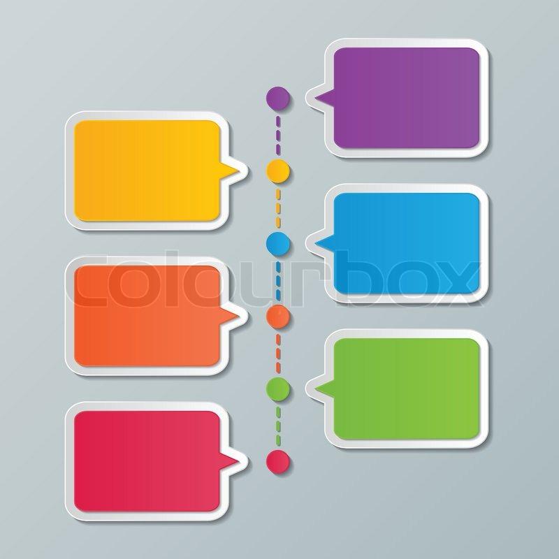colorful paper speech bubble timeline infographic design templates