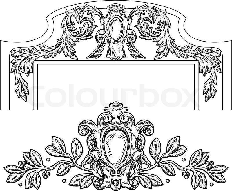Heraldic Vintage Decorative Element Stock Vector