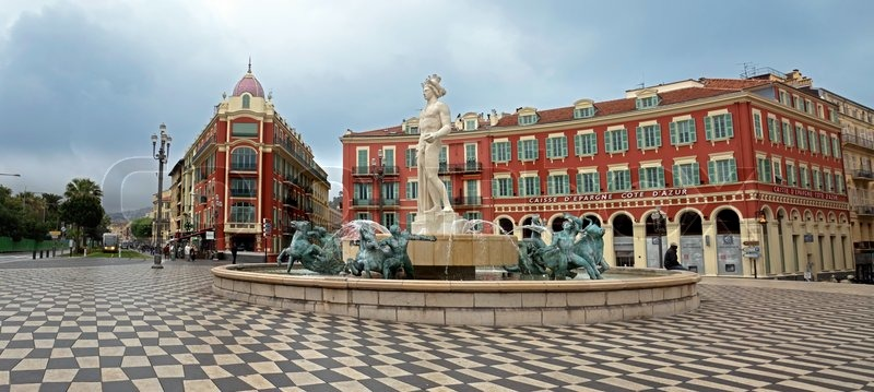 Nice france april 27 view to place massena and fountain soleil on april 27 2013 in nice - Place massena nice ...