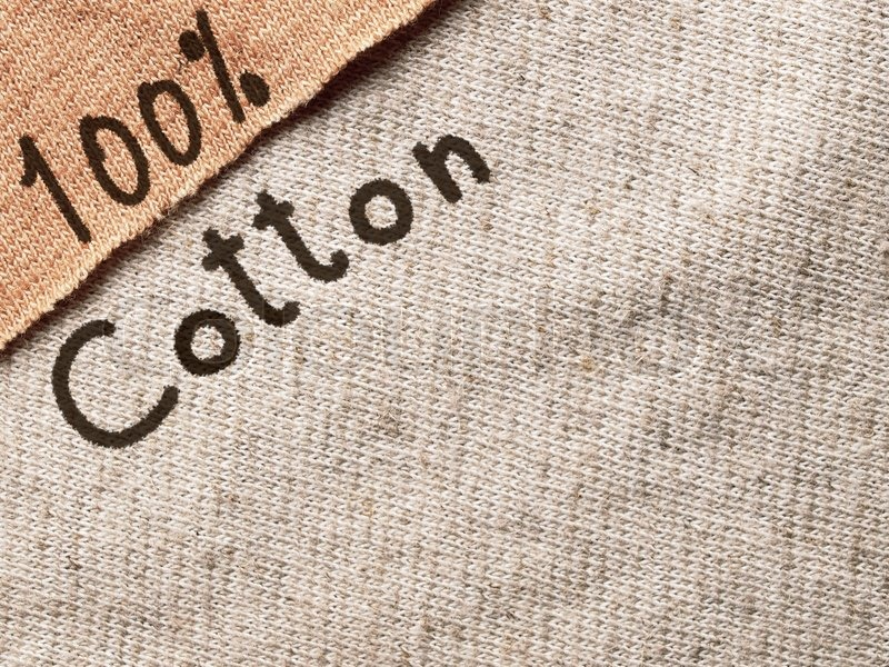 Cotton fabric textile with text, background texture, stock photo