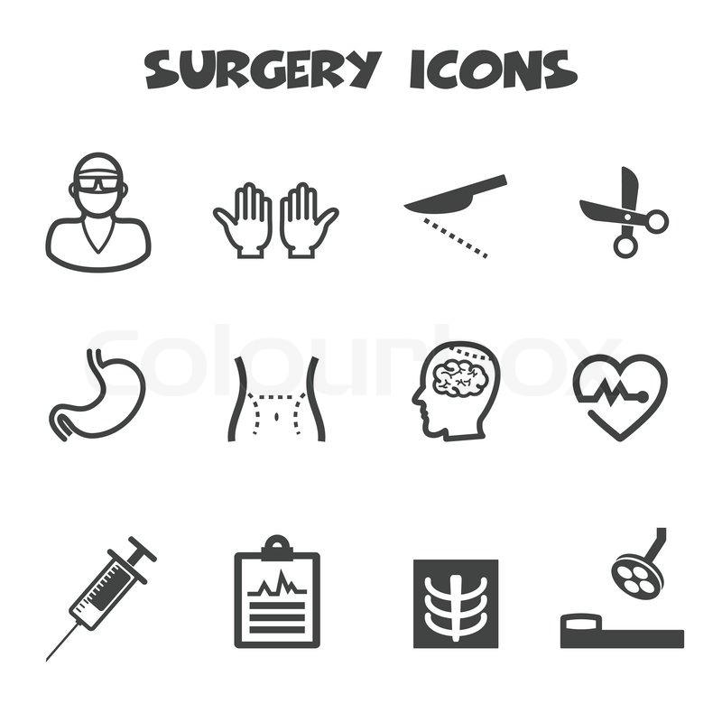 Chirurgie-Symbole | Vektorgrafik | Colourbox