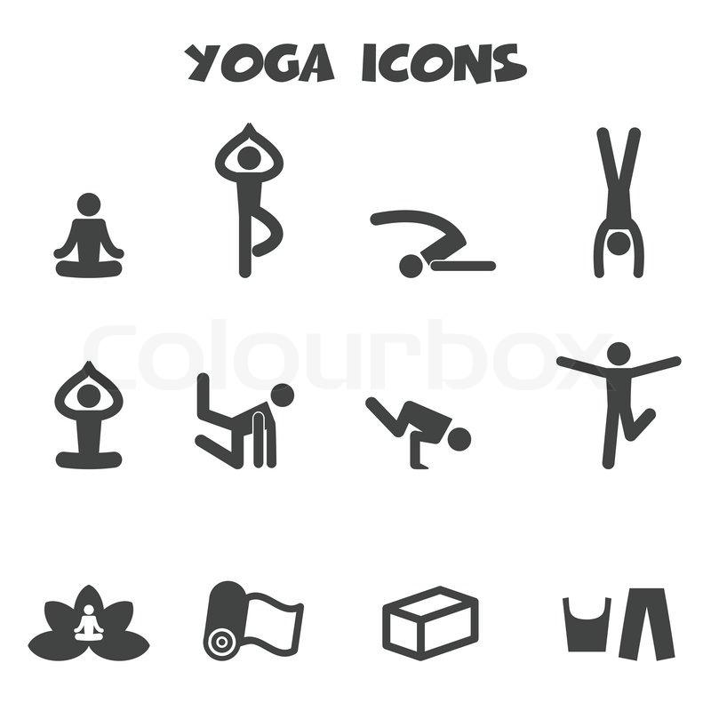 Yoga-Symbole   Vektorgrafik   Colourbox