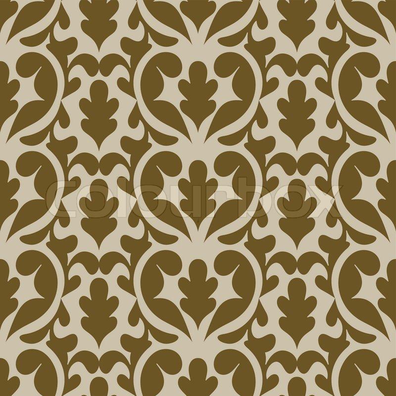 damast sch nen hintergr nden altmodische nahtlose muster beige vektor tapete florales. Black Bedroom Furniture Sets. Home Design Ideas