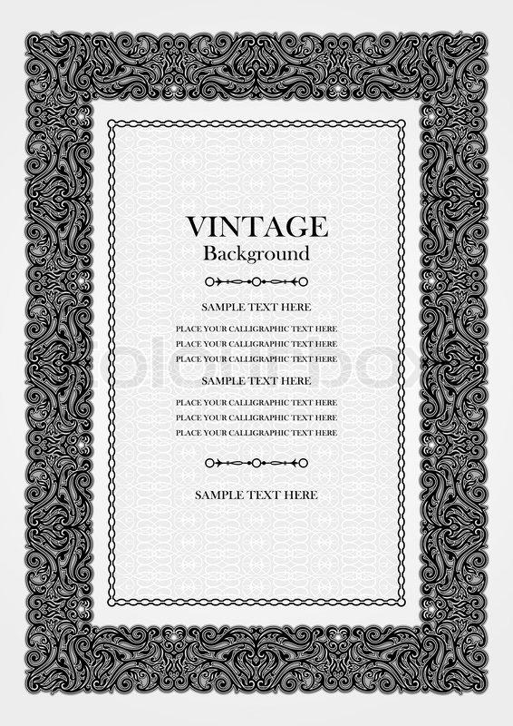 Vintage Hintergrund, antike dekorative Rahmen, viktorianischen