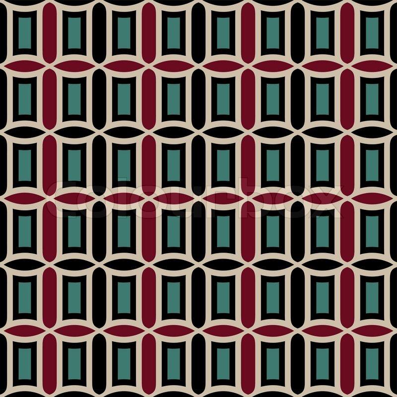 Abstract Geometric Background Retro Seamless Pattern
