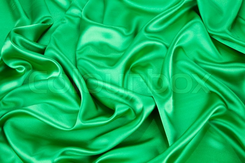 green silk background texture close up whole background