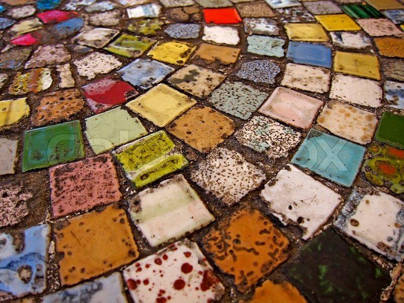 Bunte Fliesen Stockfoto Colourbox