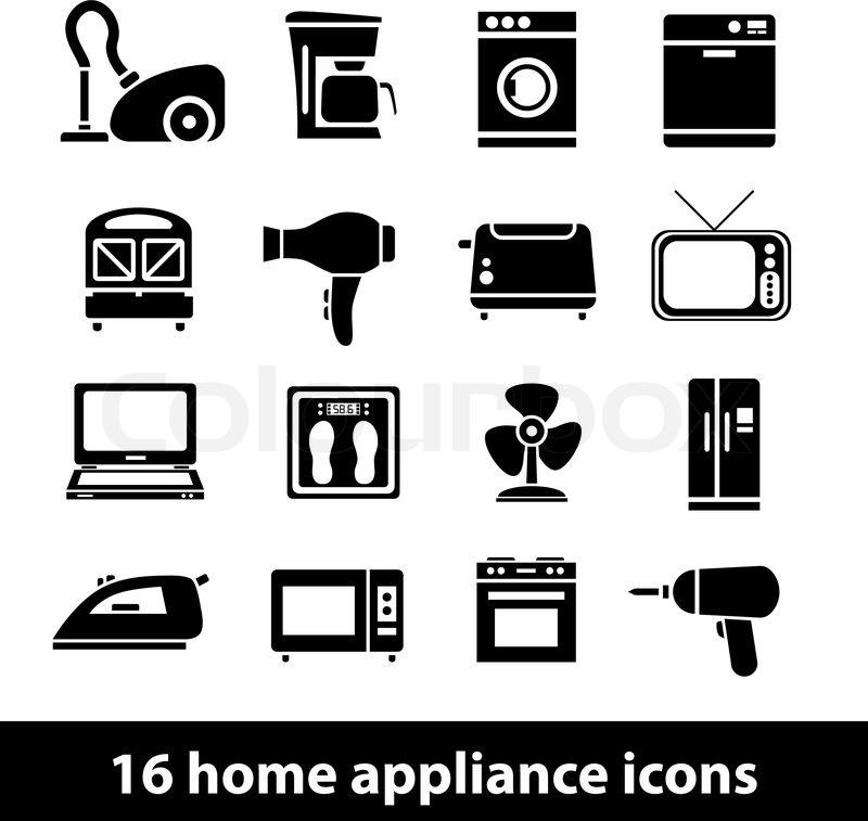 Haustechnik & Symbole  Vektorgrafik  Colourbox ~ Geschirrspülmaschine Zeichen