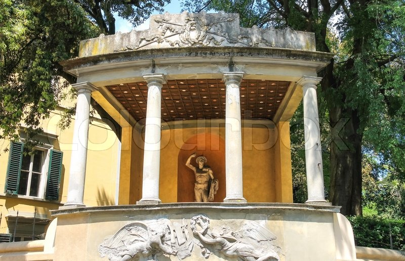 Sculpture in the Boboli gardens. Florence, Italy, stock photo