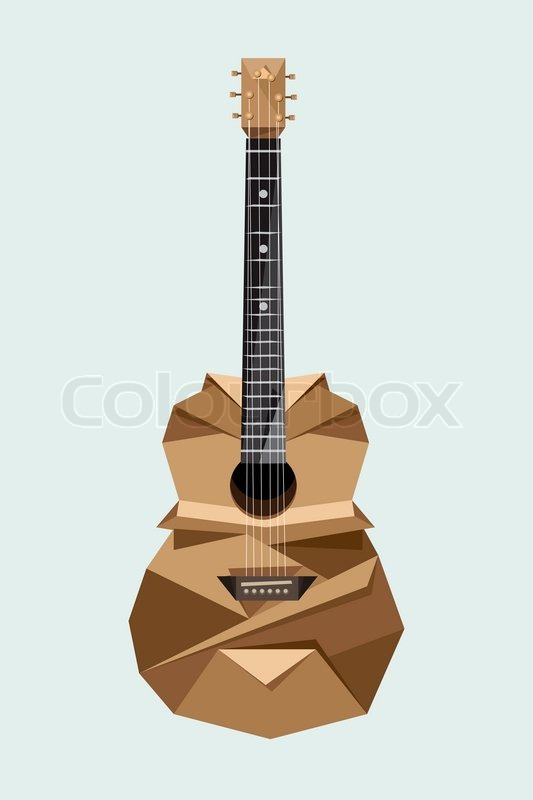 origami gitarre stockfoto colourbox