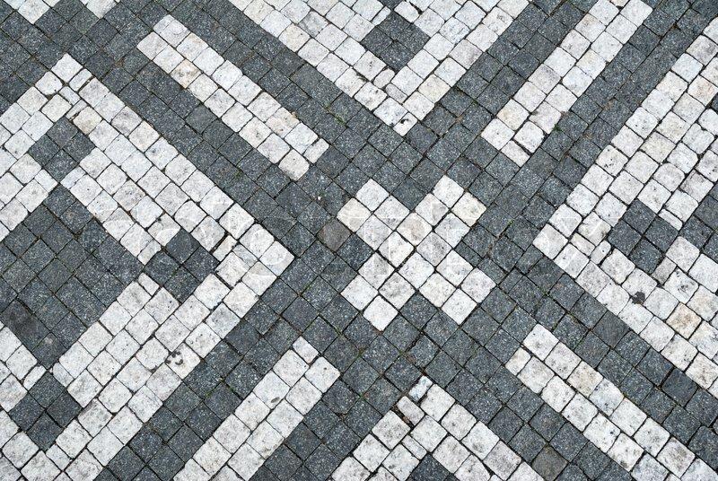 Black and white cobblestone ornamental ... | Stock image ...