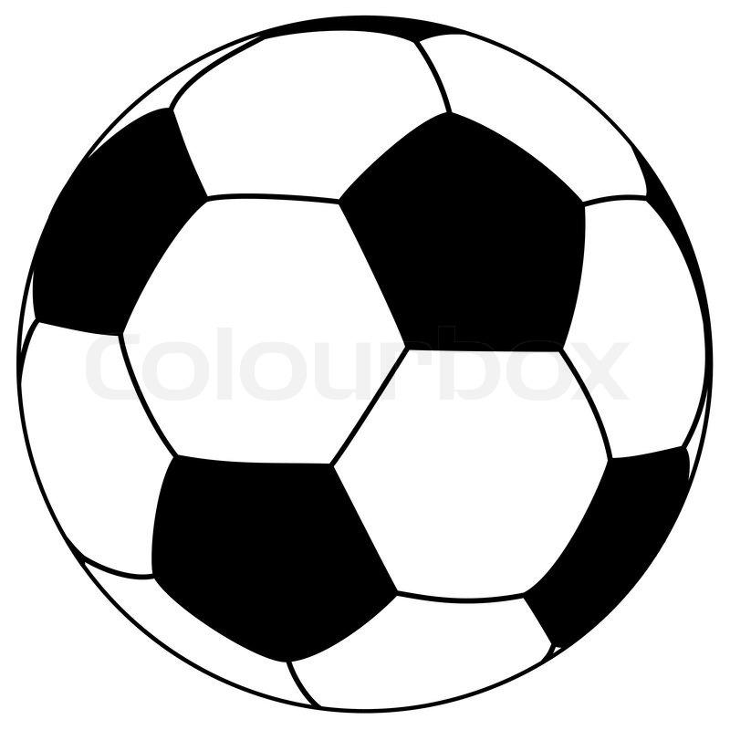 Schwarz Wei 223 Fu 223 Ball Einfache Vektor Illustration