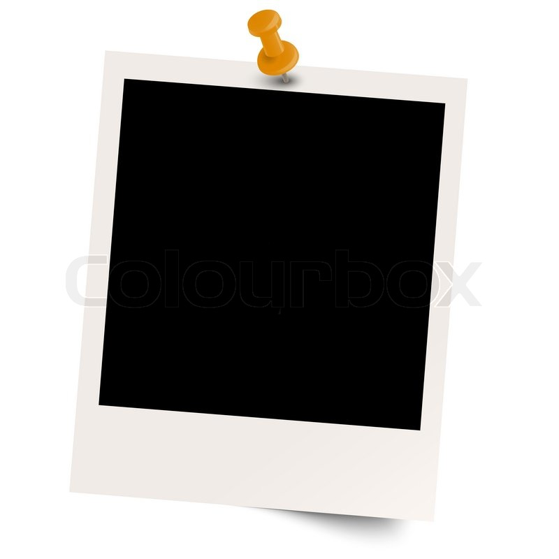 blank polaroid with pin needle stock vector colourbox. Black Bedroom Furniture Sets. Home Design Ideas