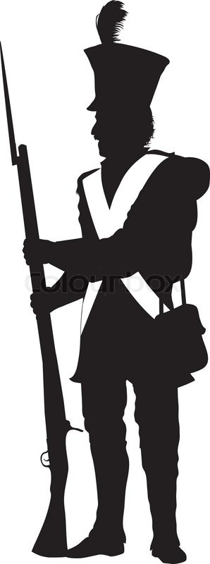 napoleonic war soldier detailed vector silhouette eps 10 stock rh colourbox com soldier vector art soldier vector silhouette