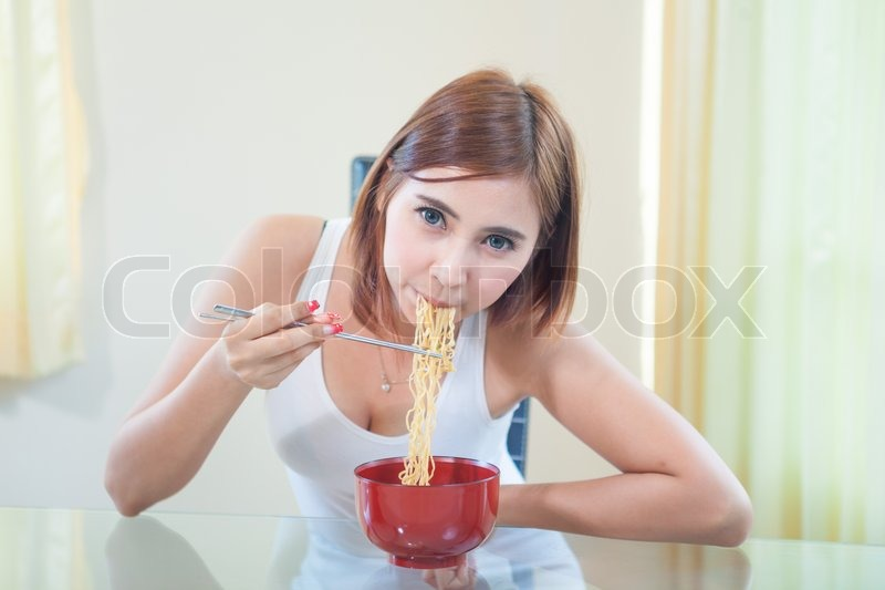 Ramen Noodles Chopsticks Noodles Using Chopsticks'