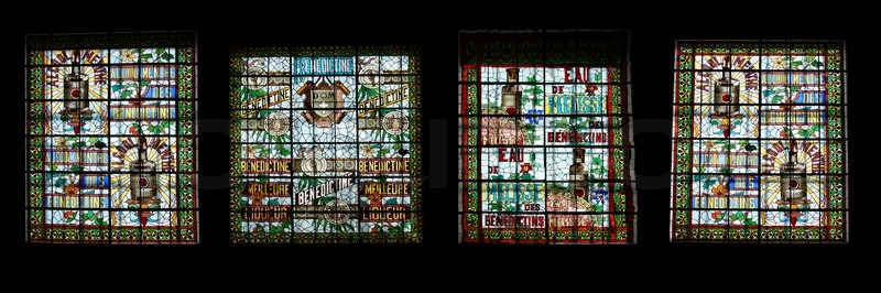 Stained glass window benedictine palace museum in fecamp - Haute normandie mobel ...