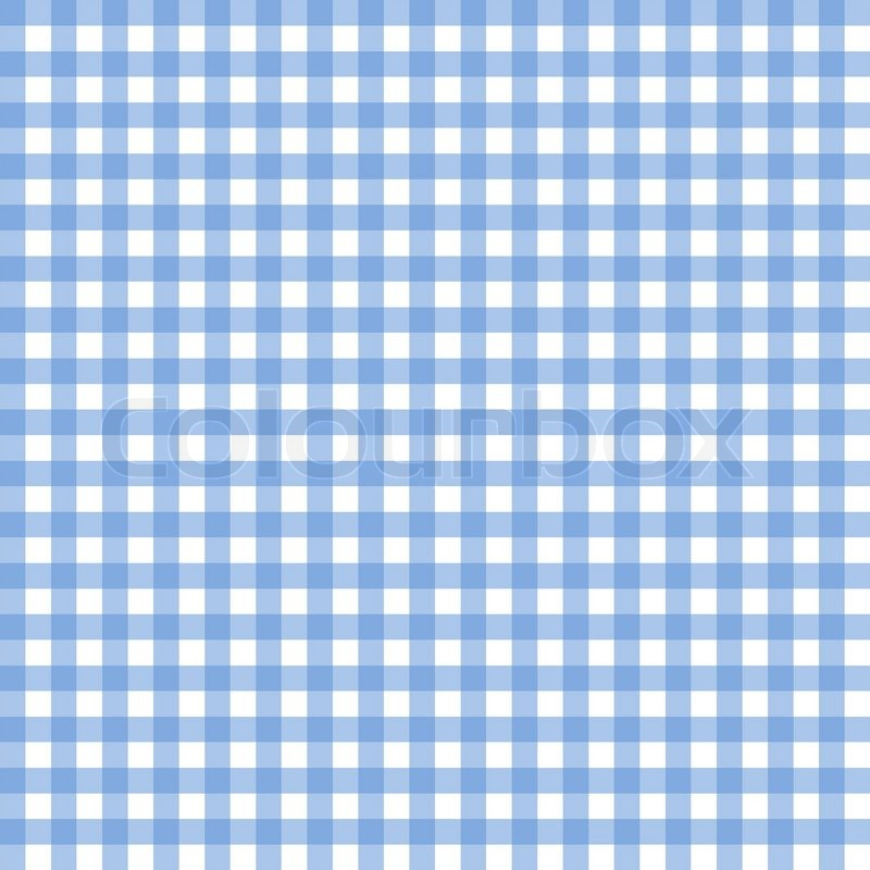 Seamless Blue And White Tablecloth Pattern In Square Shape | Stock Photo |  Colourbox