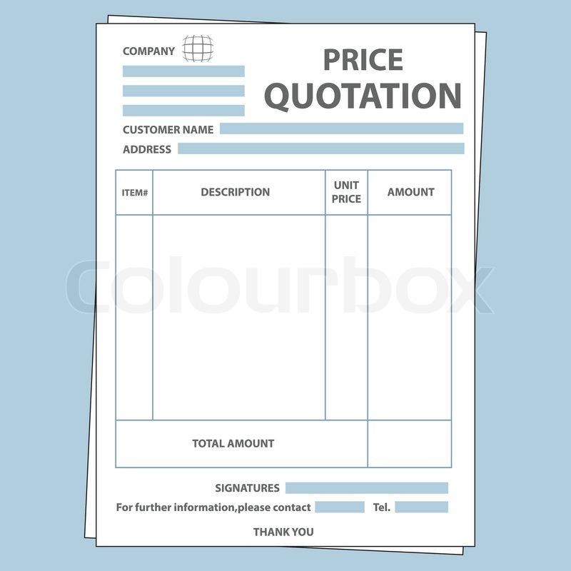 Angebotsformular Vektorgrafik Colourbox