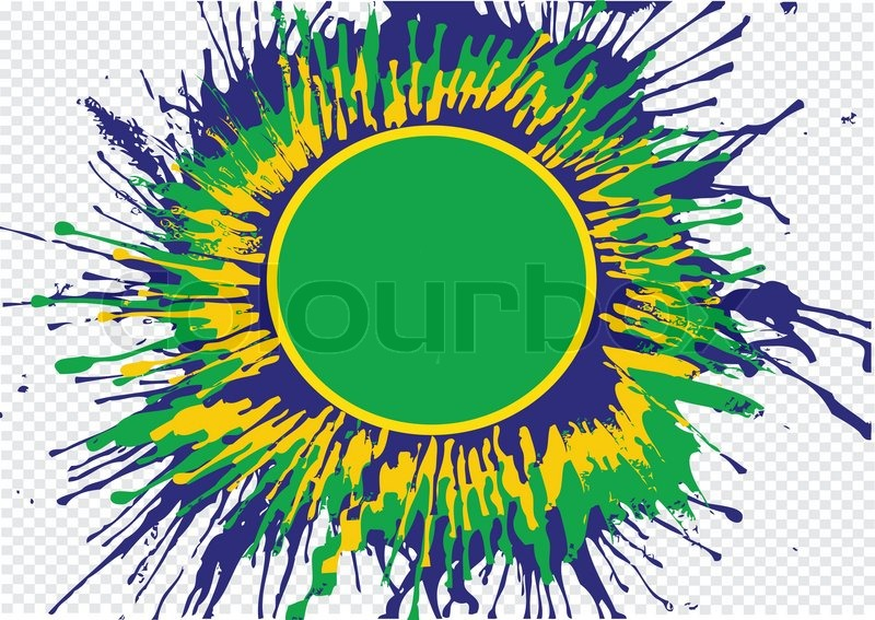 Illustration Abstract Background Form Watercolor In Brazil Color