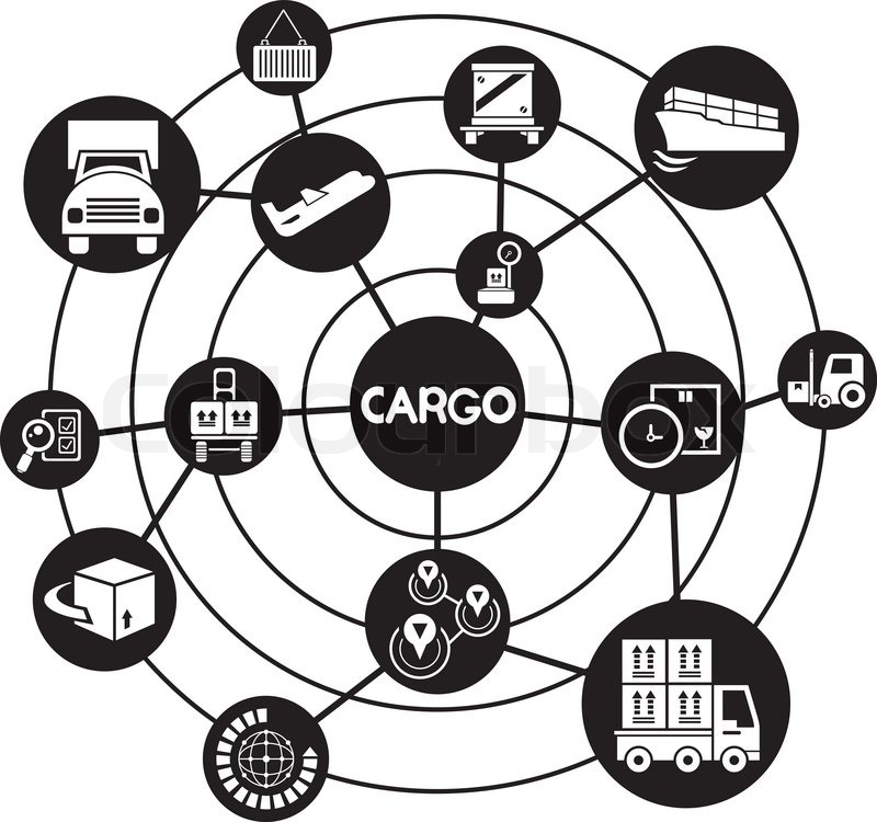 cargo management  connecting network diagram