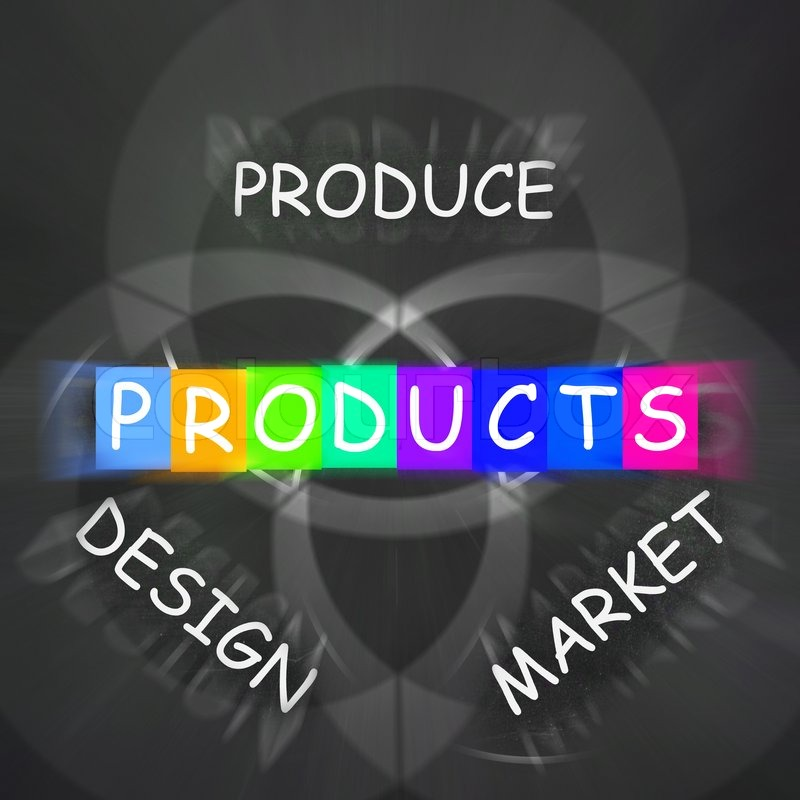 Companies Designing and Displaying Products and Market Them, stock photo