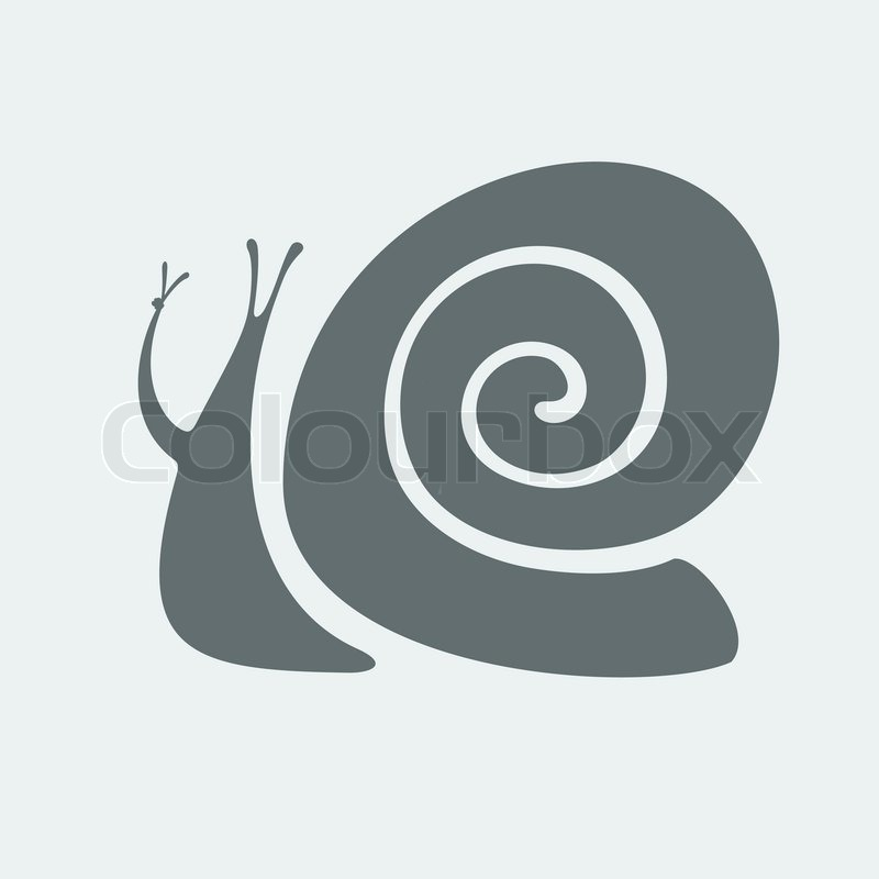 Snail Symbol Wish All Happiness And Peace Stock Vector Colourbox