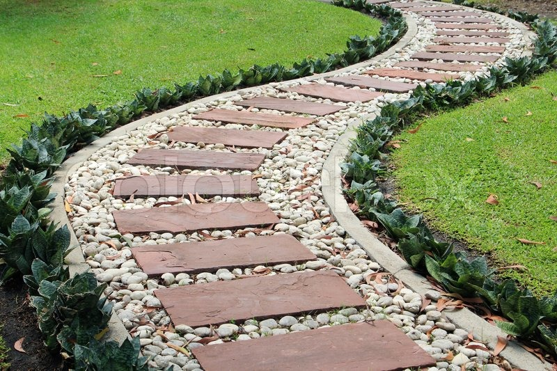 Garden Stone Path, stock photo