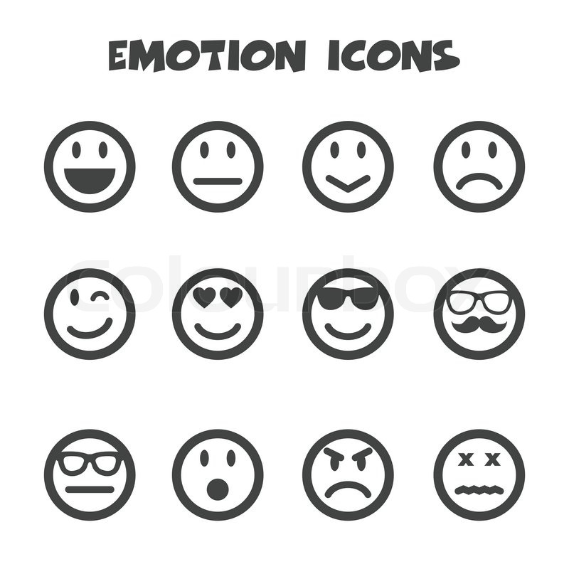 Emotion Icons Mono Vector Symbols Stock Images Page Everypixel