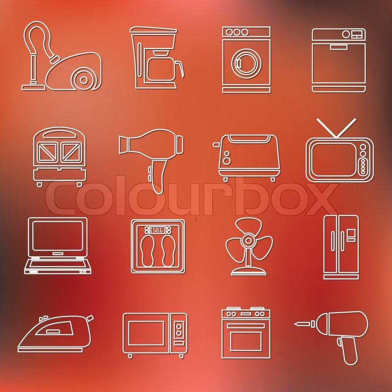 haustechnik gliederung symbole vektorgrafik colourbox. Black Bedroom Furniture Sets. Home Design Ideas