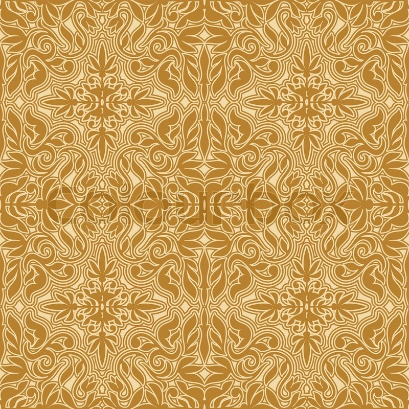 Damask Beautiful Background With Rich Antique Royal