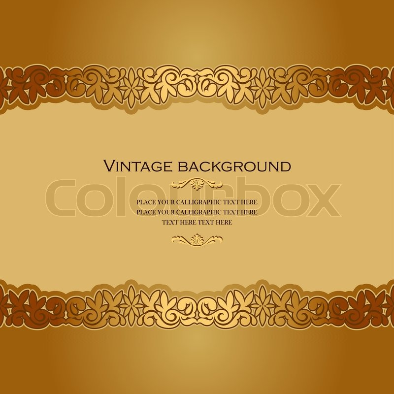vintage background antique victorian golden ornament baroque