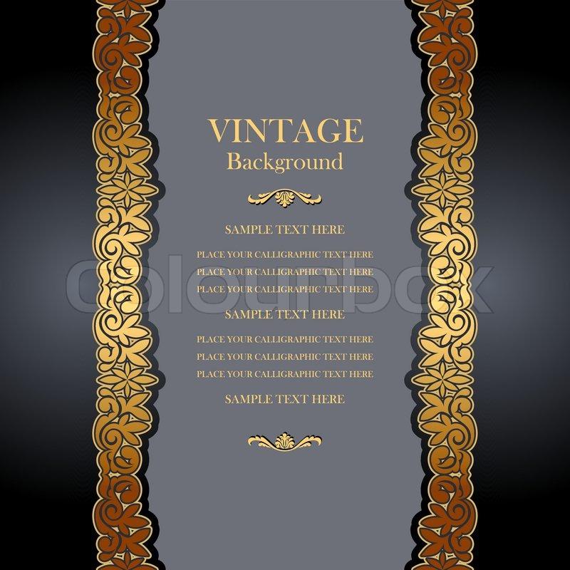 Vintage Hintergrund, Antiquität, viktorianischen goldenen Ornament, barocken Rahmen, schöne alte ...