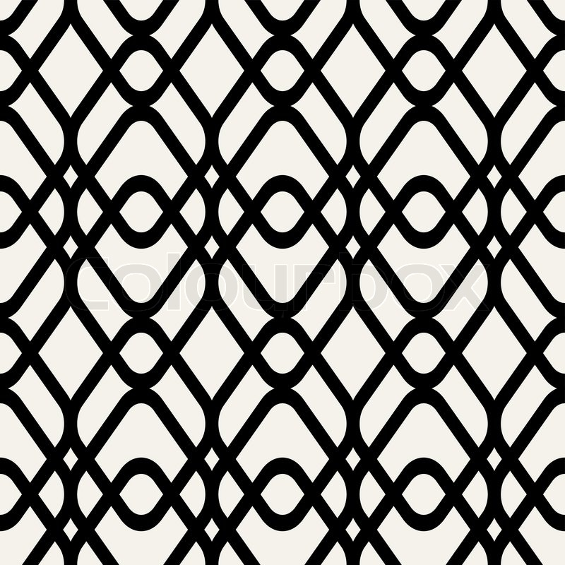 Abstract geometric background black and white modern seamless pattern wrapping paper 50s 60s 70s fashion style colorful trendy fabric simple ornament