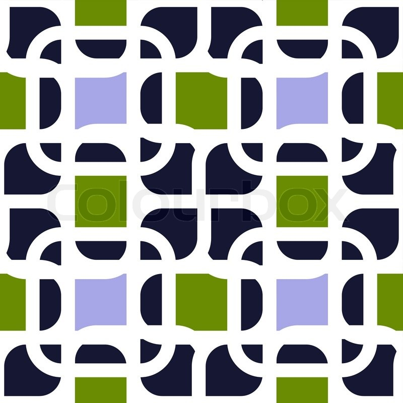 Abstract Geometric Background Modern Seamless Pattern Wrapping Paper 50s 60s 70s Fashion