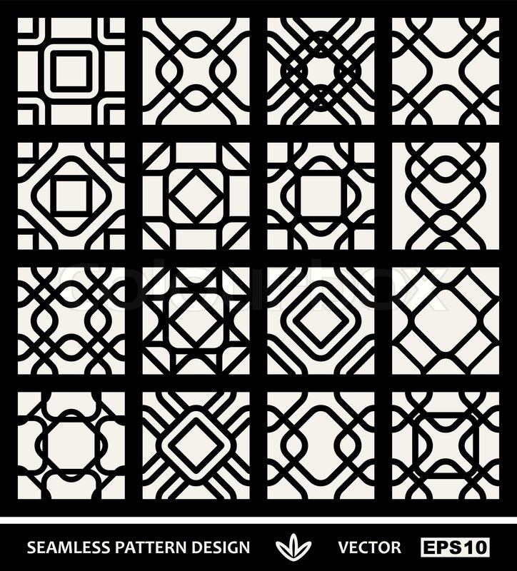 Moderne Stoffe abstrakte moderne hintergründe gesetzt geometrische nahtlose