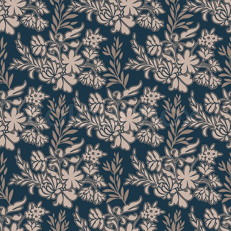 vintage floral antique background  fashion seamless