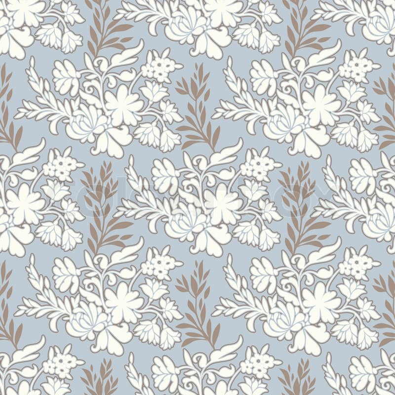 Vintage Floral Antique Background Fashion Seamless