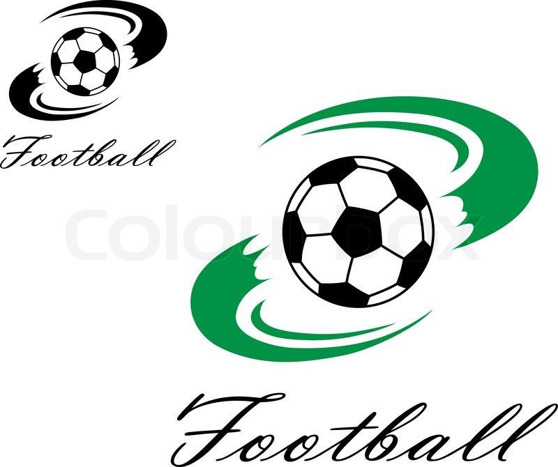 Fussball Oder Fussball Symbol Stock Vektor Colourbox