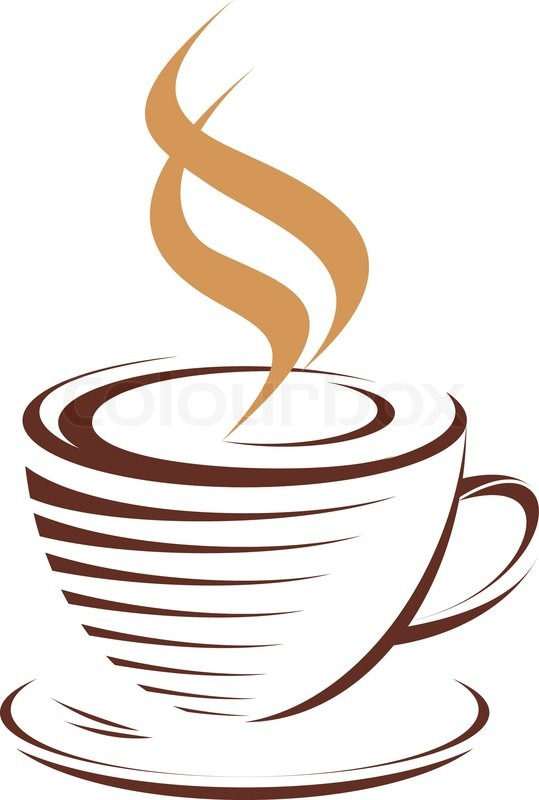 tasse hei223en dampfenden kaffee vektorgrafik colourbox