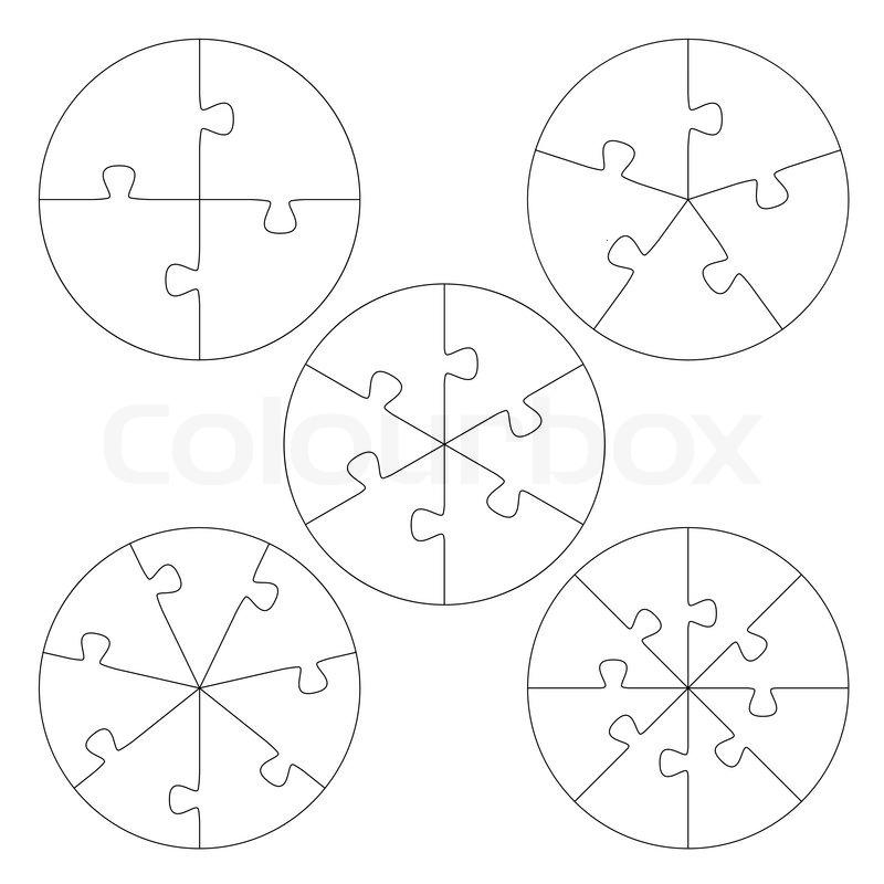 Puzzle-Vorlagen-Kreis | Vektorgrafik | Colourbox