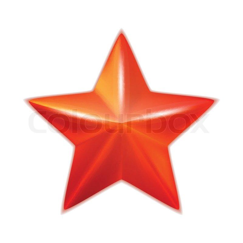 Glänzend fünfzackigen roten Stern. Vektor | Vektorgrafik | Colourbox