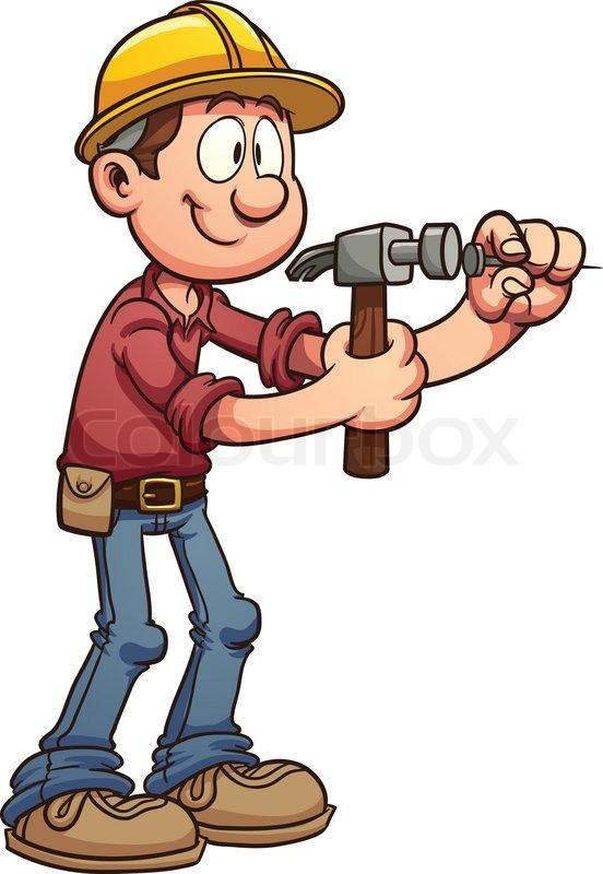 clipart construction worker cartoon - photo #26