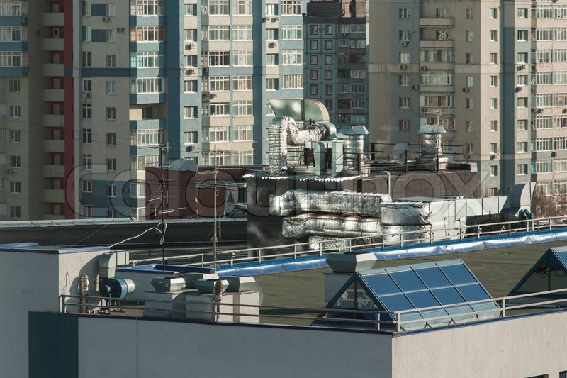 Exhaust Vents Of Industrial Air Conditioning And