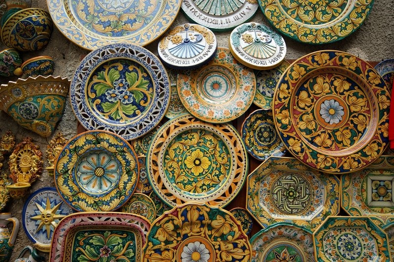 Symbol Of The Island Of Sicily Italy Traditional Souvenirs Of