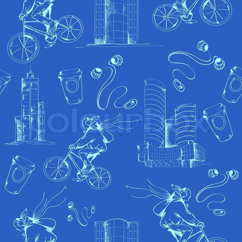 Modern urban city blueprint seamless pattern abstract design vector modern urban city blueprint seamless pattern abstract design vector illustration stock vector colourbox malvernweather Gallery