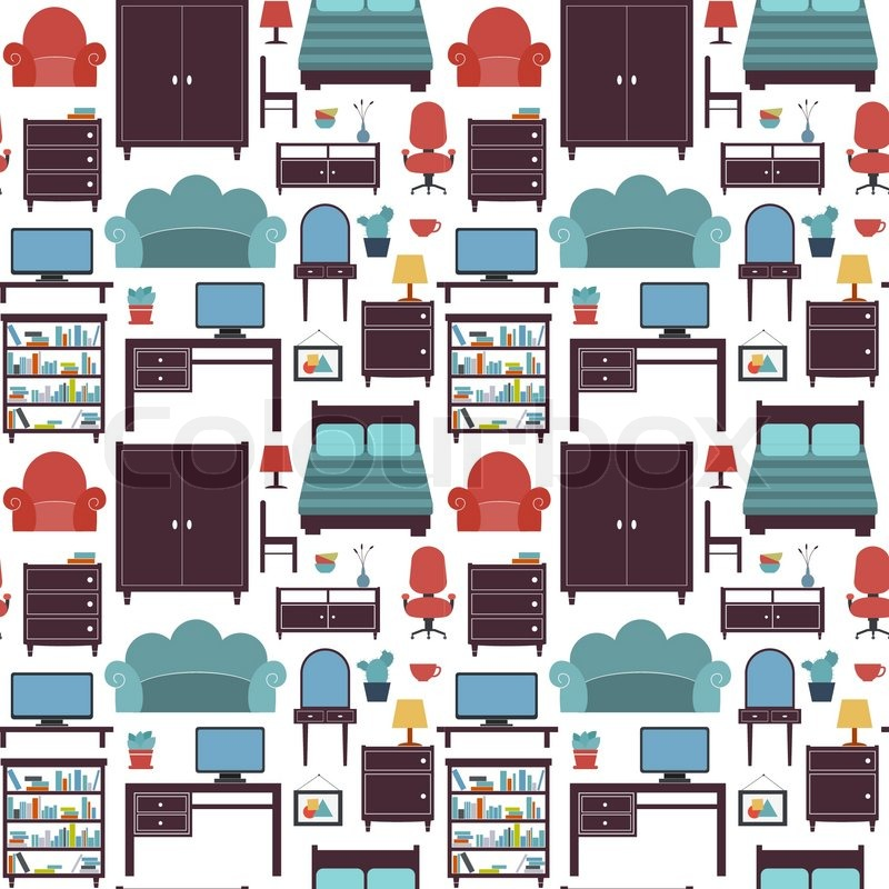 haus sitz deko vektorgrafik colourbox. Black Bedroom Furniture Sets. Home Design Ideas